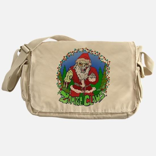 Zombie Claus Messenger Bag