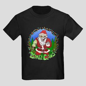 Zombie Claus Kids Dark T-Shirt