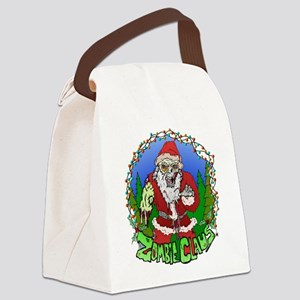 Zombie Claus Canvas Lunch Bag