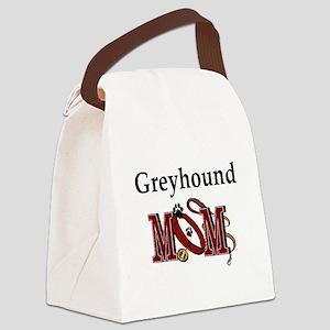 Greyhound Mom Canvas Lunch Bag