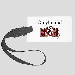 Greyhound Mom Large Luggage Tag