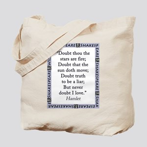 Doubt Thou The Stars Are Fire Tote Bag