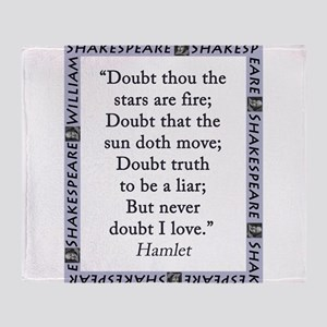 Doubt Thou The Stars Are Fire Throw Blanket