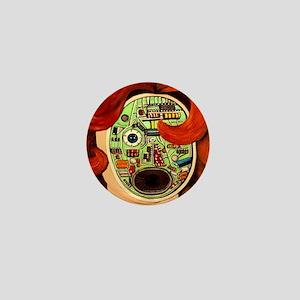 Female Robot Mini Button