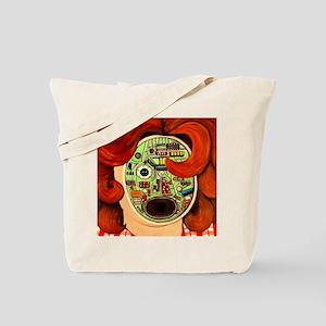 Female Robot Tote Bag