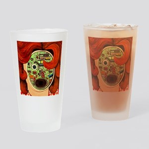 Female Robot Drinking Glass