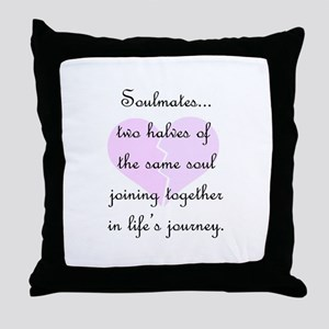 Soulmates (faded heart design) Throw Pillow