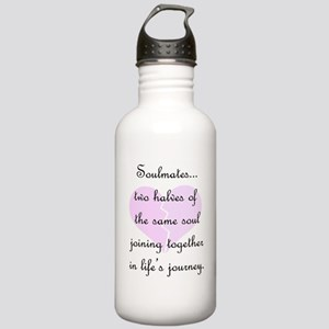 Soulmates (faded heart design) Stainless Water Bot