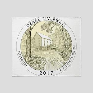 Missouri Quarter 2017 Throw Blanket