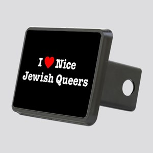 I Heart Nice Jewish Queers Rectangular Hitch Cover