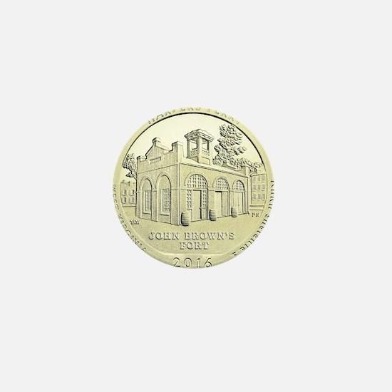 West Virginia Quarter 2016 Basic Mini Button