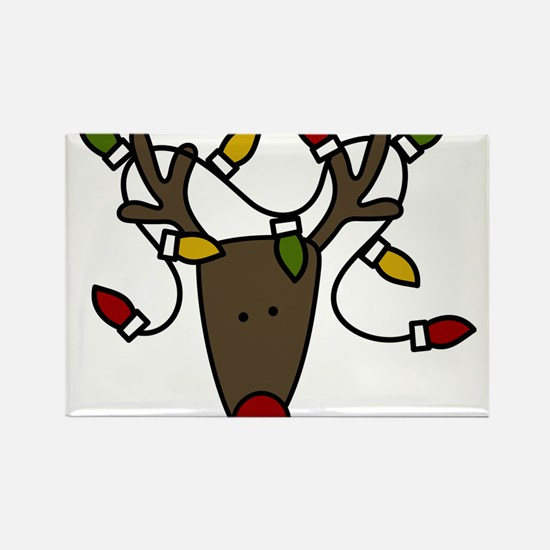 Holiday Reindeer Rectangle Magnet