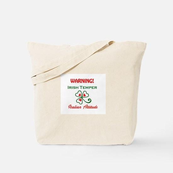 Irish Temper Italian Attitude Tote Bag