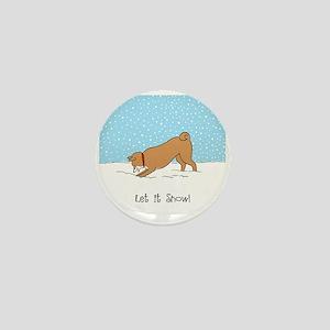 Shiba Inu Let it Snow Mini Button