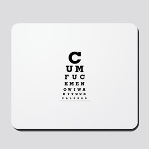 cum - shirt Mousepad