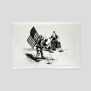 Apollo Moon Landing Rectangle Magnet (10 pack)