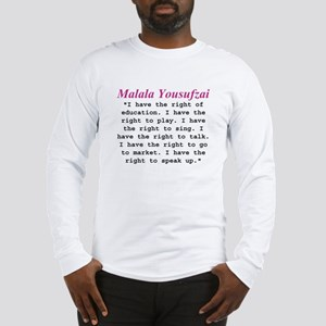 Malala's Rights Long Sleeve T-Shirt