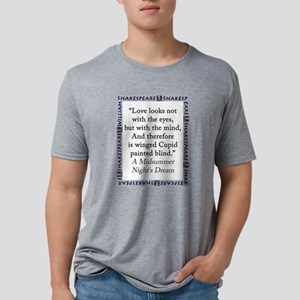 Love Looks Not With The Eyes Mens Tri-blend T-Shir