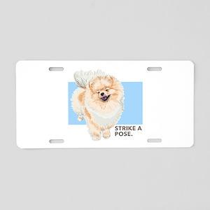 Pom Pose Aluminum License Plate