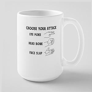 Choose Your Weapon You Numskull Large Mug