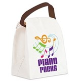 Piano student Canvas Lunch Bag