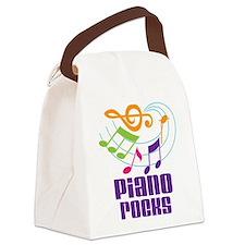 Piano Rocks Canvas Lunch Bag