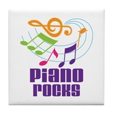 Piano Rocks Tile Coaster