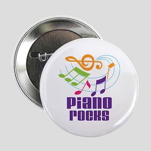 """Piano Rocks 2.25"""" Button"""
