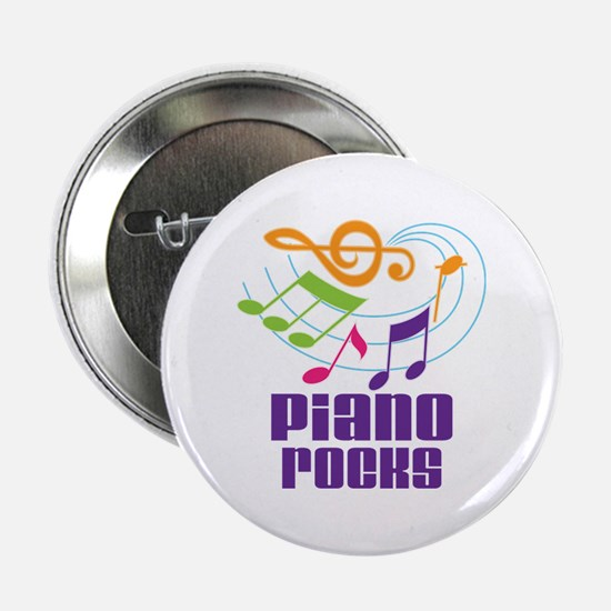 "Piano Rocks 2.25"" Button"