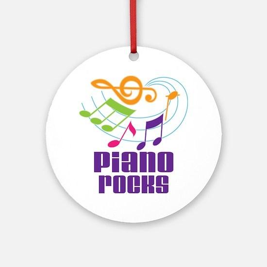 Piano Rocks Ornament (Round)