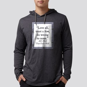 Love All Trust a Few Mens Hooded Shirt