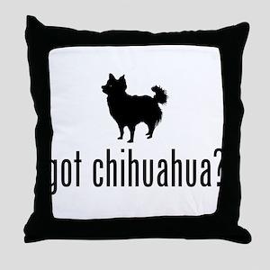 Chihuahua Longhair Throw Pillow