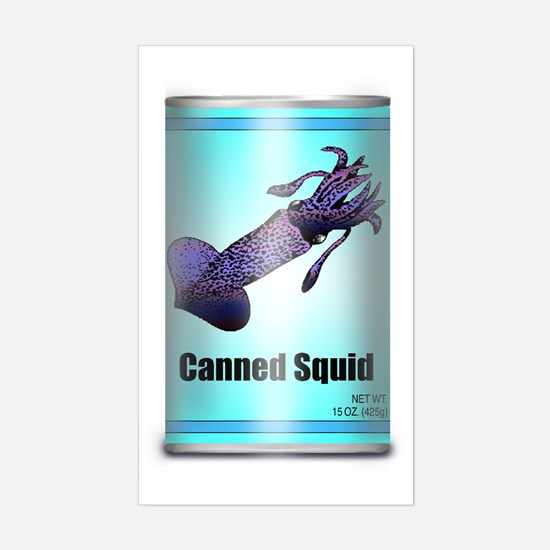 Canned Squid - Rectangle Decal