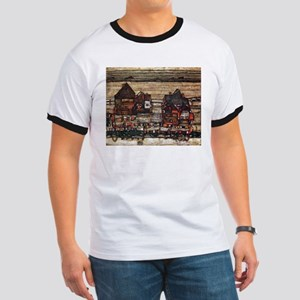 Egon Schiele Houses with laundry lines Ringer T