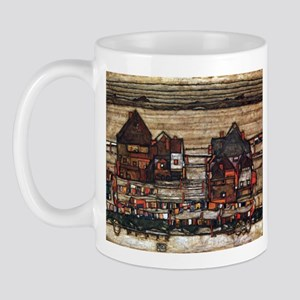 Egon Schiele Houses with laundry lines Mug