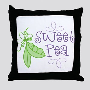 Sweet Pea Throw Pillow