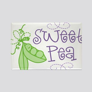 Sweet Pea Rectangle Magnet