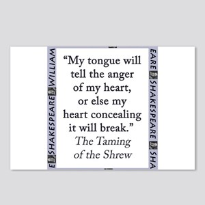 My Tongue Will Tell the Anger of My Heart Postcard