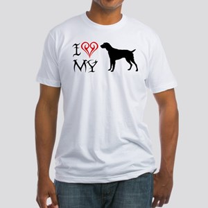 German Wirehaired Pointer Fitted T-Shirt
