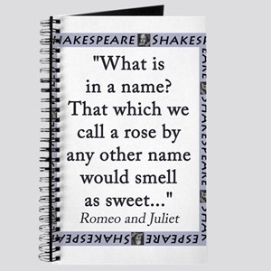 What Is In a Name Journal