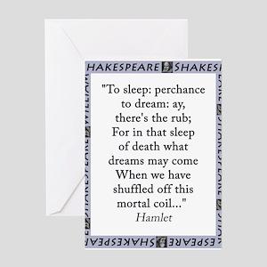 To Sleep: Perchance to Dream Greeting Card