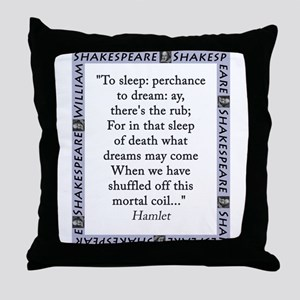 To Sleep: Perchance to Dream Throw Pillow