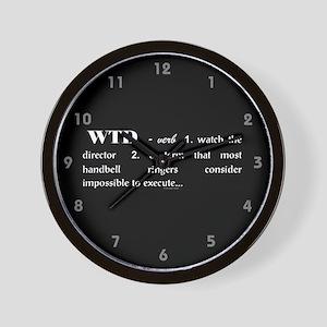 Watch the Director Black Wall Clock