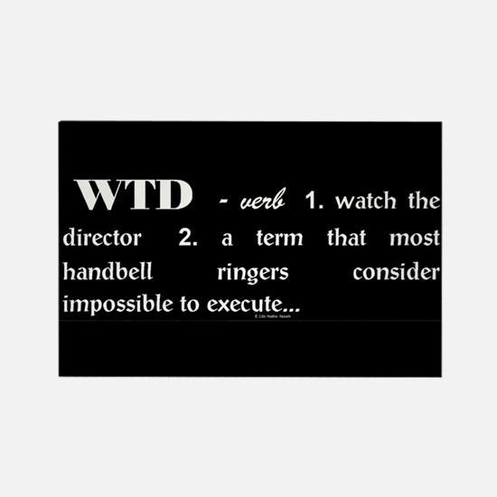 Watch the Director Black Rectangle Magnet (10 pack