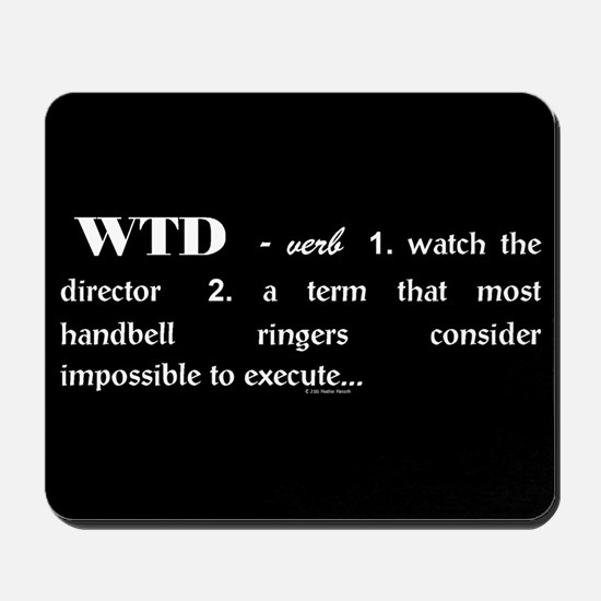 Watch the Director Black Mousepad
