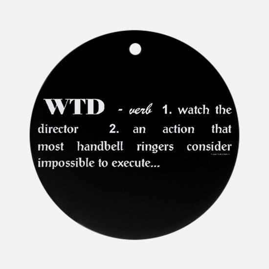 Watch the Director Black Ornament (Round)