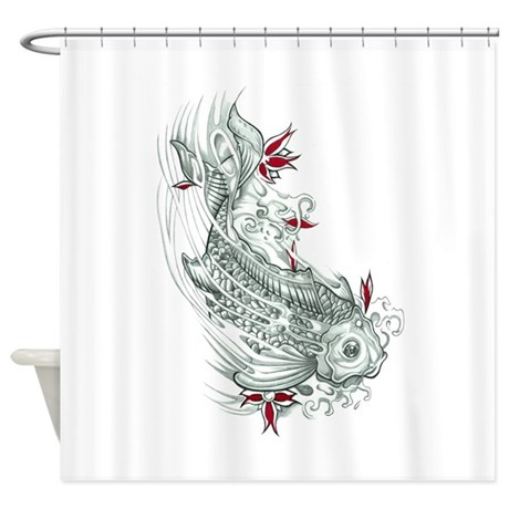 fish shower curtain koi fish shower curtain by triptic 10383