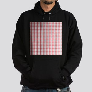 Red Baby Blue Plaid Print Hoodie (dark)