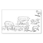 Lots of Lambs Sticker (Rectangle 10 pk)