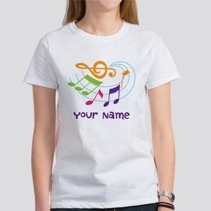 Personalized Music Swirl Women's T-Shirt